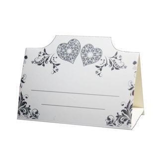 Рассадочная карточка с сердечками (арт. PC-07)