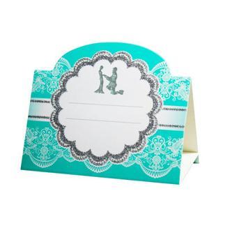 Рассадочная карточка бирюзового цвета (арт. PC-20)