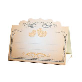 Рассадочная карточка персикового цвета (арт. PC-26)