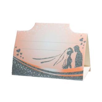 Рассадочная карточка персикового цвета (арт. PC-27)