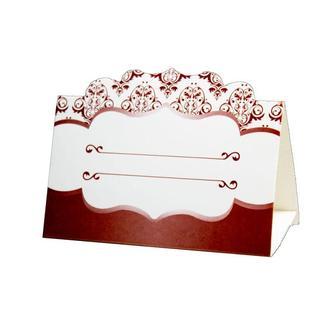 Рассадочная карточка цвета марсала (арт. PC-30)