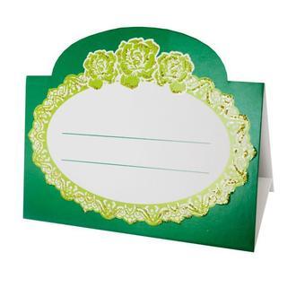 Рассадочная карточка изумрудного цвета (арт. PC-60)