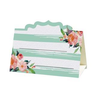 Рассадочная карточка с акварельными цветами (арт. PC-71)