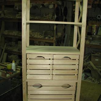 Стеллаж деревянный на 5 полок