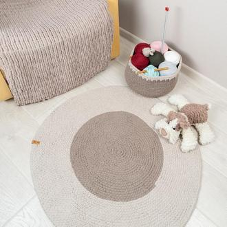 Вязаный коврик из хлопковой пряжи (80 см)