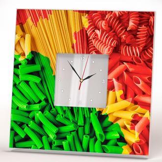 """Стильные настенные дизайнерские часы """"Паста Итальяна"""" для кухни, кафе, бара, ресторана"""