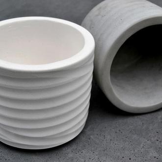 Горшок из бетона Цилиндр 18*21см