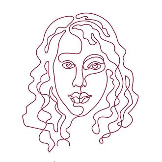 Линейный  цифровой портрет для аватарки, лого или декора, лінійний  електроний портрет