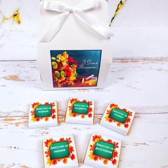 Шоколадный подарочный мини набор С Днем учителя. Оригинальный подарок учителям, ученикам, преподавателя
