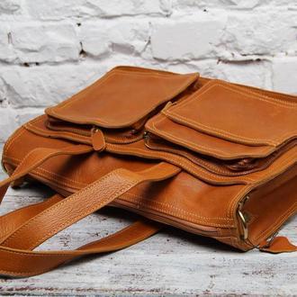 Эксклюзивная и стильная кожаная мужская сумка