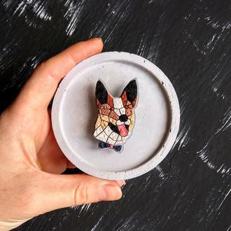 Портретная брошь по фото вашего любимца Собака, Котик, Кролик. Украшение по фото животных. Кулон
