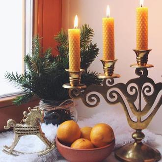 Тонкие свечи из вощины