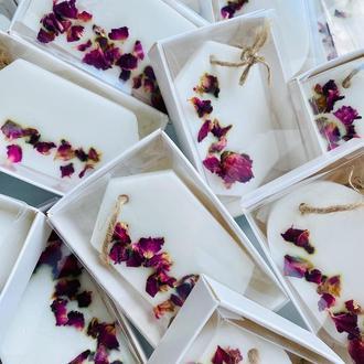 Свадебное мыло, бонбоньерки гостям на свадьбу