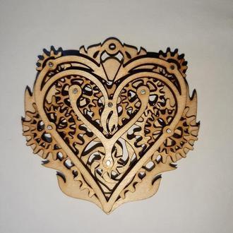 Кулоны из дерева в стиле стимпанк Steampunk.