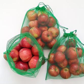 Набір мішечків для продуктів, экомешочки, фруктовки, экомешочки для овощей