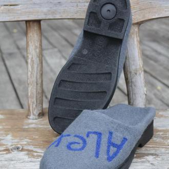 валяные тапочки 46 размер