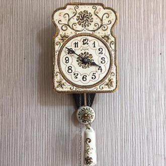 Расписные часы.Часы с  росписью ,ходики настенные механические