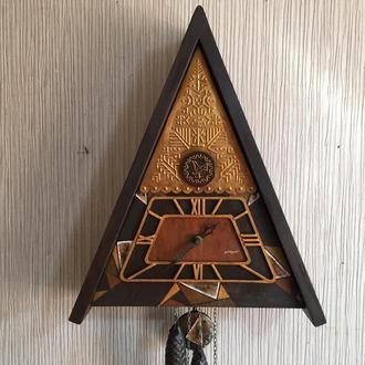 Часы ходики настенные механические с кукушкой с боем Ручная роспись