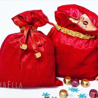 Подарункові мішечки, розміри L, M та S.