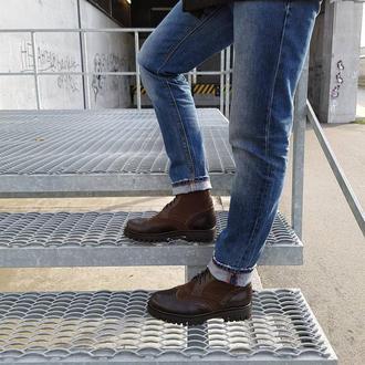 Шкіряні чоботи дербі
