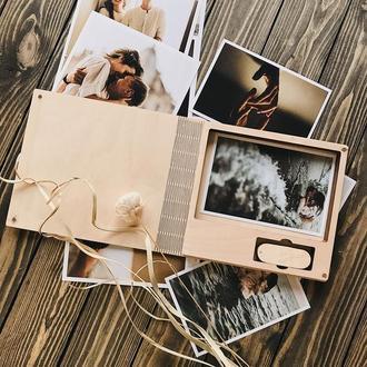"""Коробка под фото и флешку [10x15]. Серия """"Book"""""""