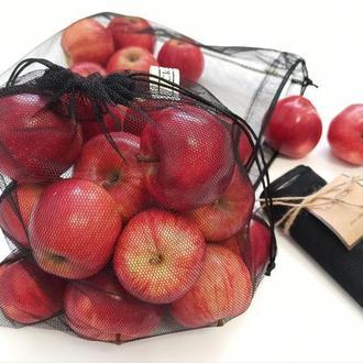 3 шт. Набор экомешочков, набір екоторбинок , екомішечки, +  чехол.мешочки для фруктов и овощей