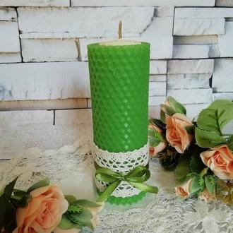 Зелёная свеча на Богатство