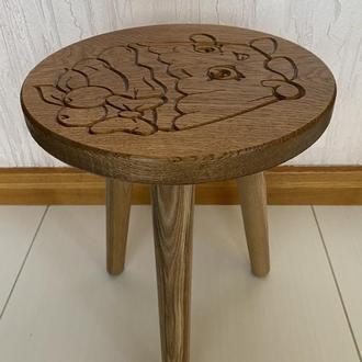 Детский стул (табурет) из дерева, возможен на 4 ножках