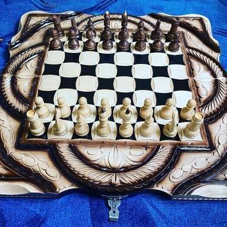"Шахматы-нарды-шашки 3 в 1 "" Рыцари """