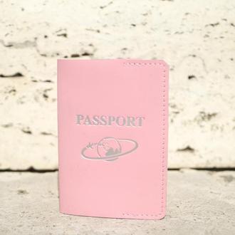 Обложка на паспорт из кожи v2.0 (rose)