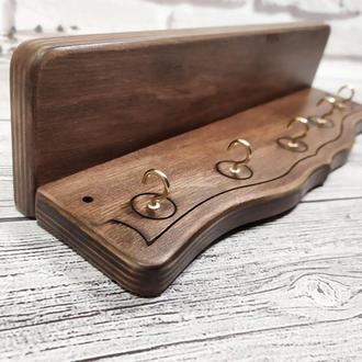 Стильный деревянный декор для вашей прихожей, ключница с полкой
