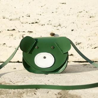 Сумка детская, для девочки ведмежонок (green)