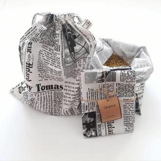 Эко мешочки , хлопок, набор сумок для продуктов, эко сумки