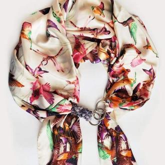 Шелковый платок  ,, Розовая Жемчужина,, от бренда My Scarf.