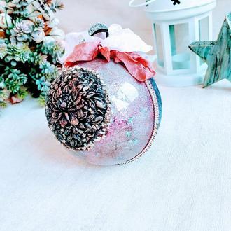 """Новогодняя елочная игрушка """"Северное сияние"""""""