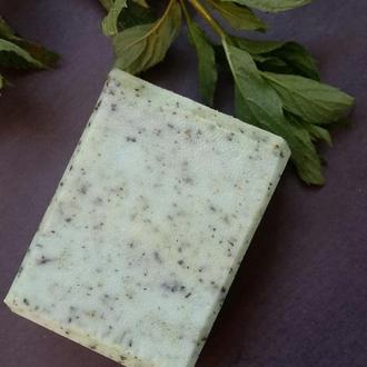 Натуральное мыло с нуля. Крапива (скраб)