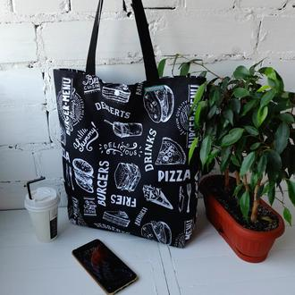 """Эко сумка для покупок """"BRUNCH"""", эко пакет, эко торба, молодежная сумка, шоппер"""