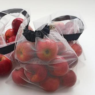 3 шт. Набор экомешочков, набір екоторбинок , екомішечки, + чехол. мешочки для овощей