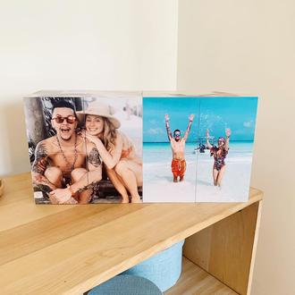 Фотокубик, фотокуб оригинальный подарок на свадьбу, день рождение, праздник, девушке, парню, семье
