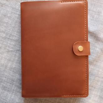 Кожаная обложка на блокнот ежедневник формата А5