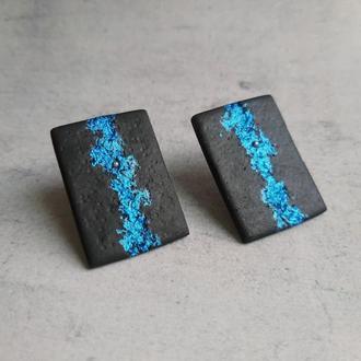 Стильные оригинальные серьги с абстрактным рисунком. Женские серьги. Подарок.
