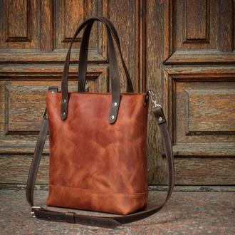 Женская сумка из натуральной кожи/ Сумка - повседневная