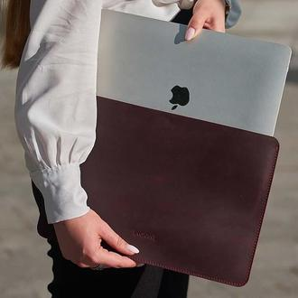 Чохол для ноутбука Apple, Asus, Dell, Lenovo, HP, Honor, Acer, Huawei, Xiaomi з натуральної шкіри