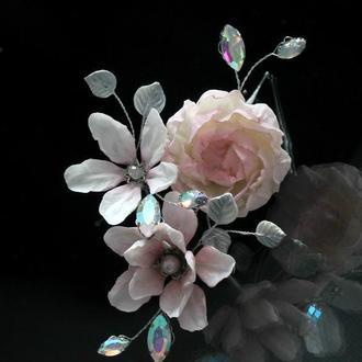 Набор шпилек с цветами
