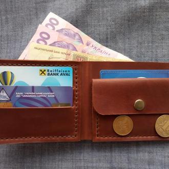 Кожаный кошелек кошелек из кожы crazy horse