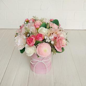 Букет из мыла, мыльный букет из роз.