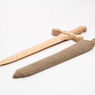 Меч викинга детский деревянный игрушечный