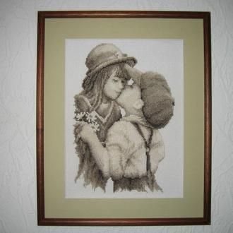 """Вишита картина """"Юний поцілунок"""""""