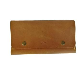 Женский жёлтый кожаный бумажник х4 (10 цветов)
