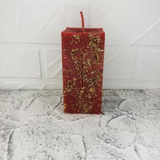 Большая свеча красная с тысячелистником